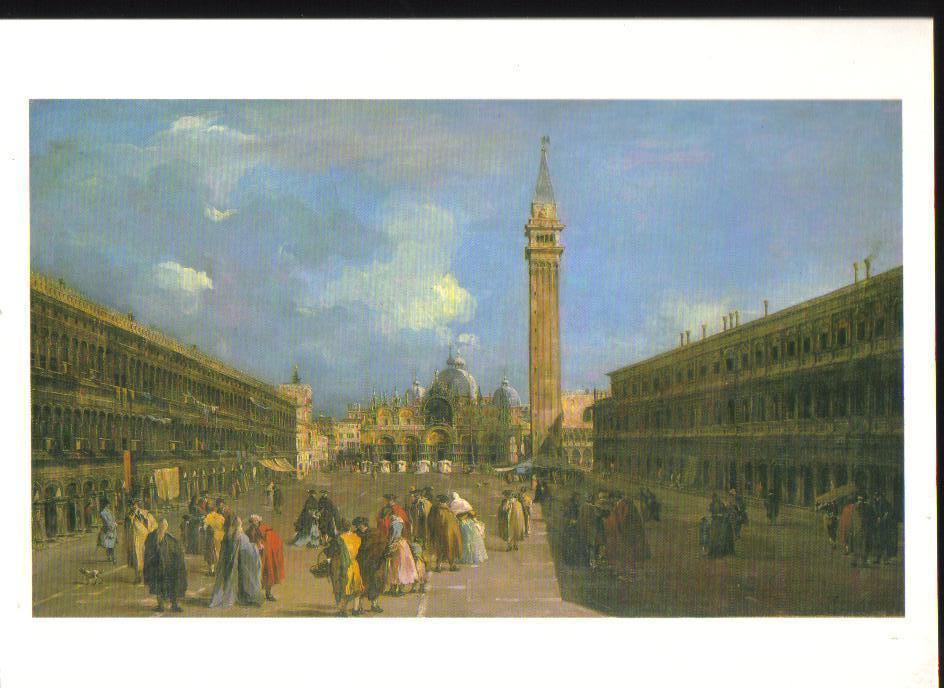 Venice  Piazza San Marco  Art Print Postcard