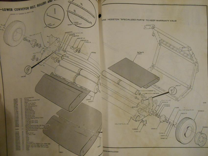 Hesston 5600 round baler Manual
