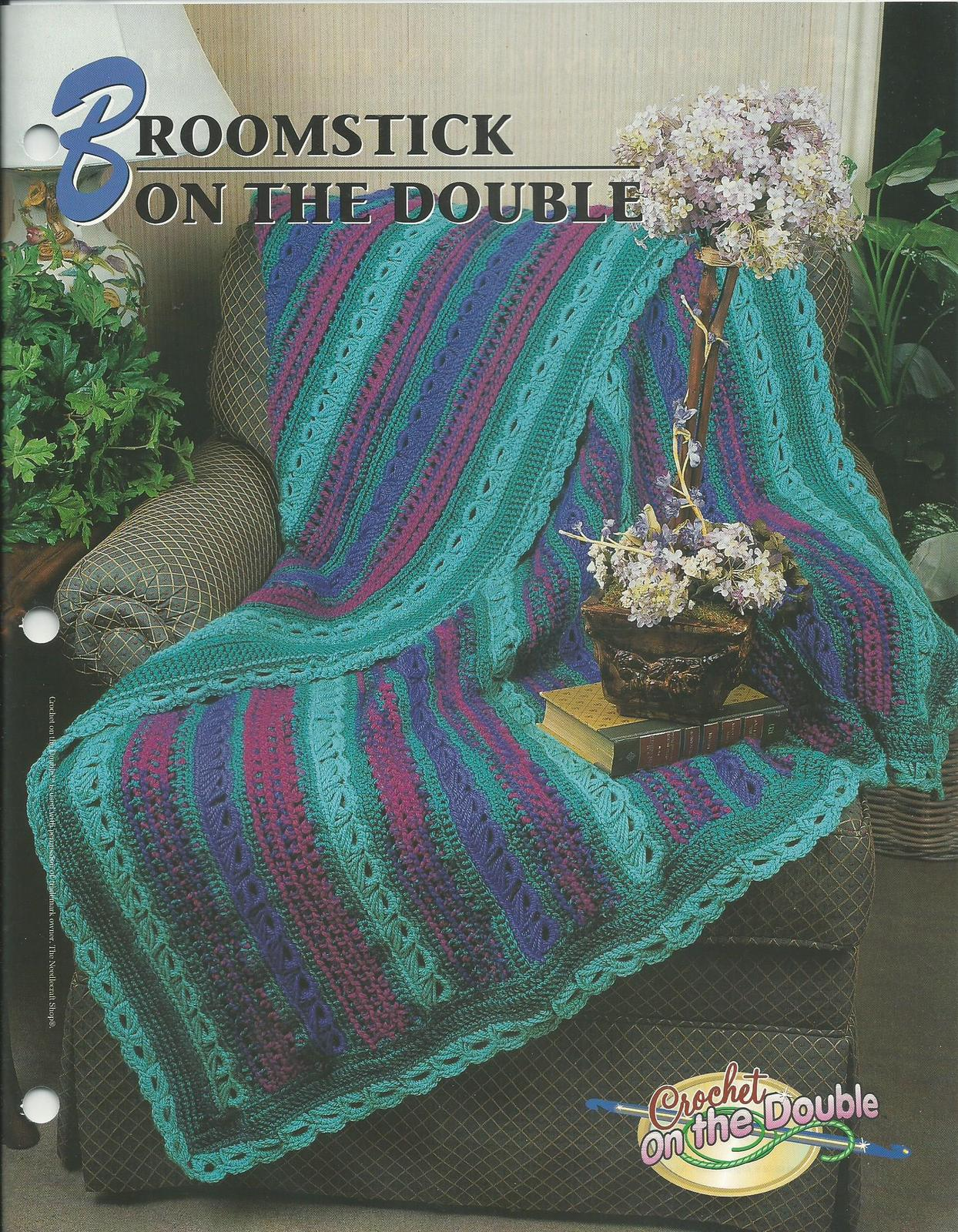 Crochet On The Double : Broomstick on the Double Afghan~Annies Quilt & Afghan Crochet Patter...