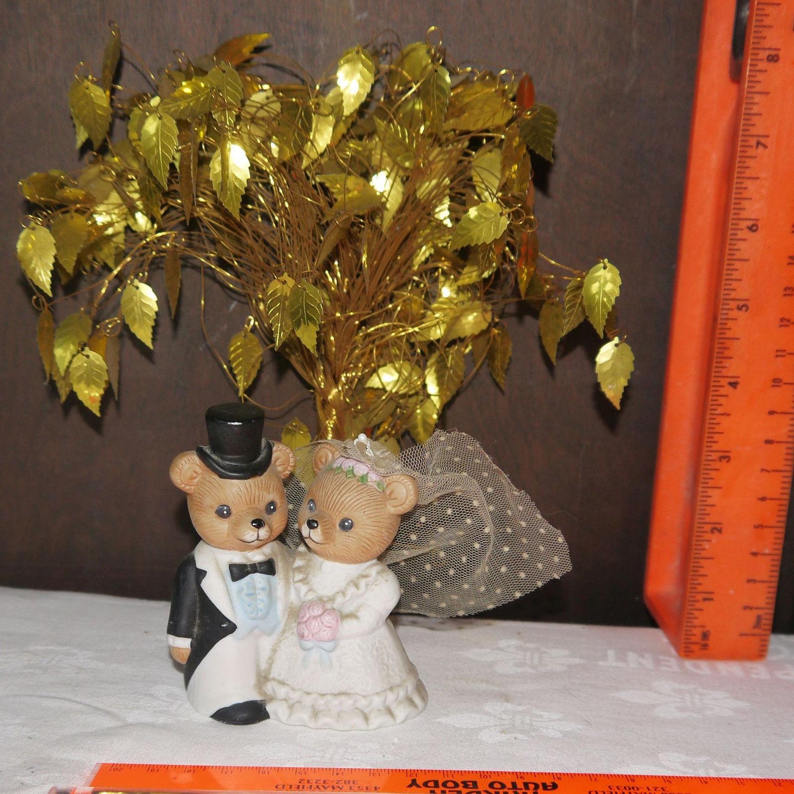 Homco Home Interiors Porcelain Teddy Bear Bride Groom