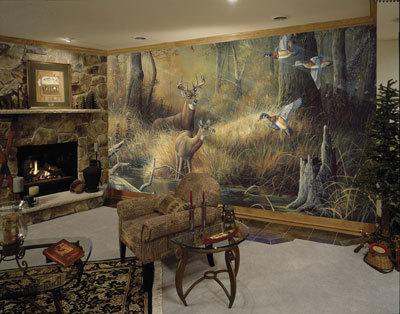 C826 Rustic October Memories Deer Cabin Wall Mural8murals