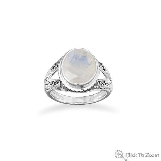 Rainbow Moonstone Ring Amazon