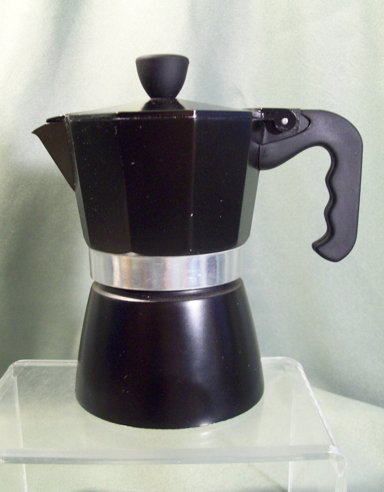 Cafetiere Espresso Maker ~ Pre owned la cafetiere black stovetop espresso maker