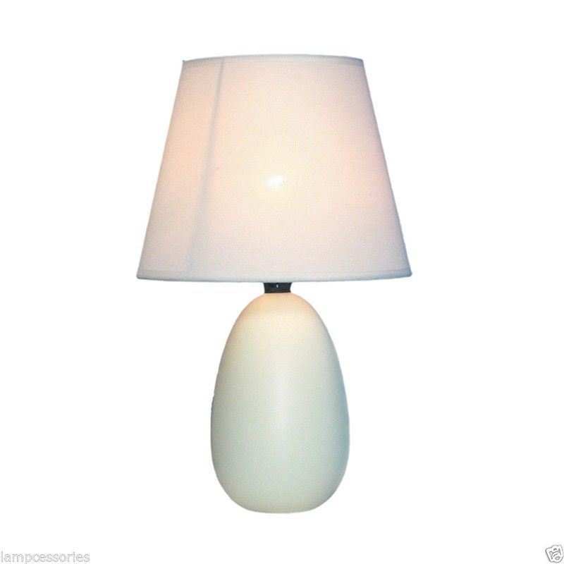 small off white oval ceramic table lamp kids mini egg bedside lamps. Black Bedroom Furniture Sets. Home Design Ideas