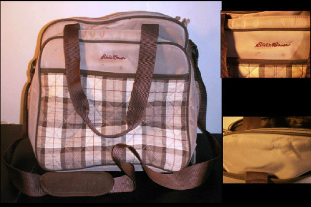 eddie bauer organizer diaper bag hamilton tan plaid everything else. Black Bedroom Furniture Sets. Home Design Ideas