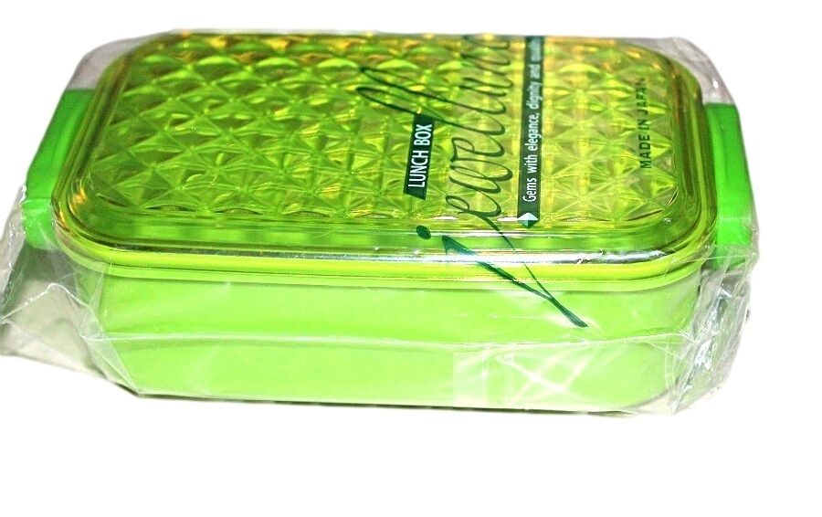 green bento lunch box made in japan japan bento supplies lunchboxes bags. Black Bedroom Furniture Sets. Home Design Ideas