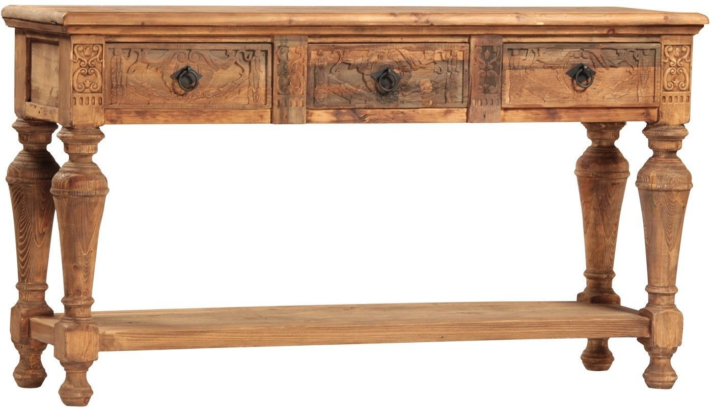 stunning large vintage style tiago console table 71 39 39 wide