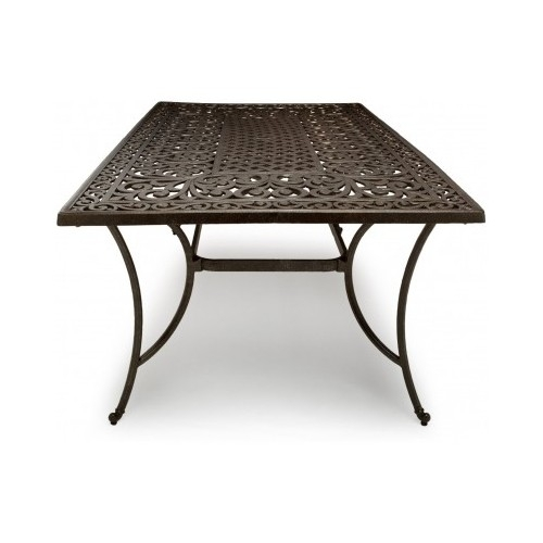 patio dining rectangular table cast aluminum patio furniture pool