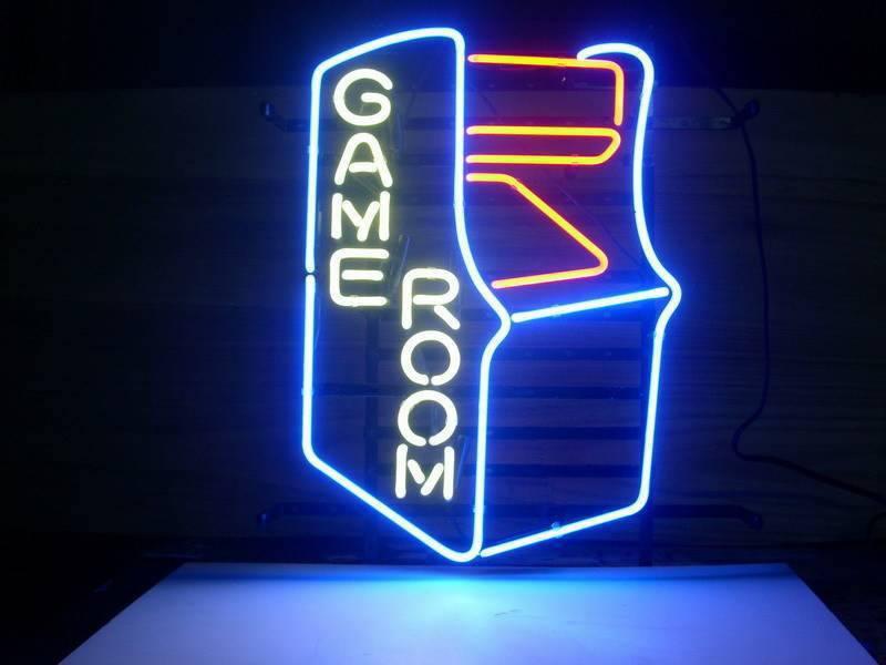 game room beer bar neon light sign neon. Black Bedroom Furniture Sets. Home Design Ideas