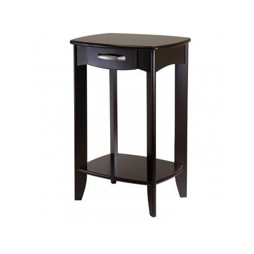 End Tables Office Furniture Espresso Solid Shelf Entryway