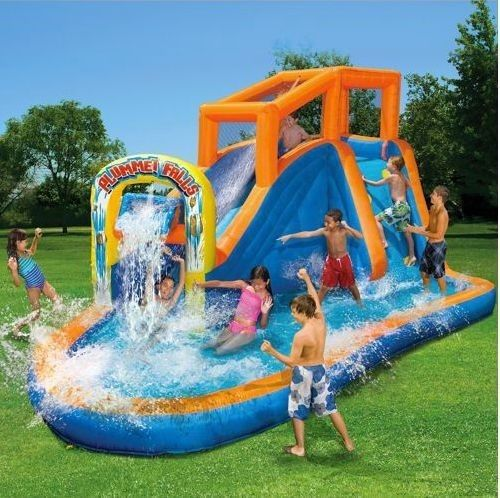inflatable water slide waterslide backyard bouncer party toys house