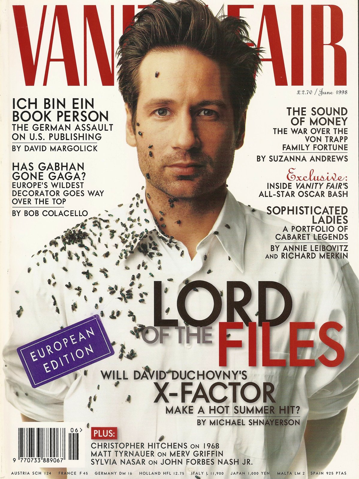 vanity fair 454 uk edition june 1988 x files david duchovny lord of files cover other