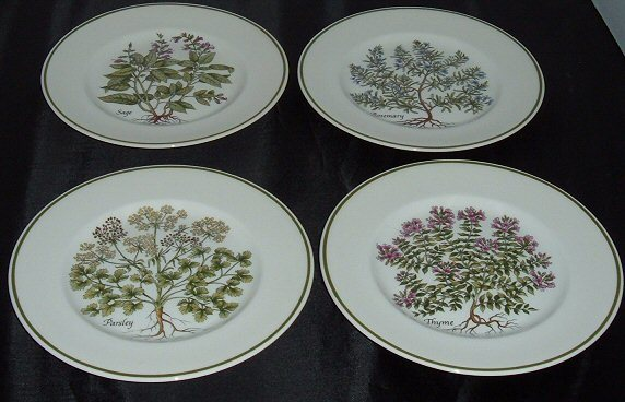 Johnson Brothers Tiffany and Co. Herbs Plates - Parsley Sage Rosemary & Thyme