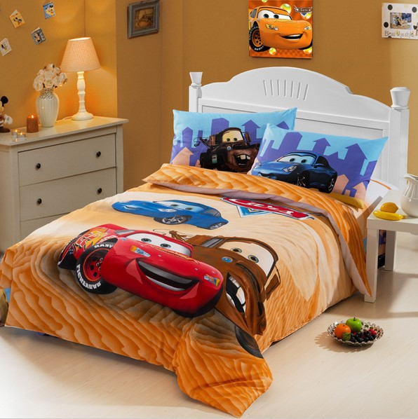 4pc.Full/Queen Size Cars Cartoon Lightning And 50 Similar
