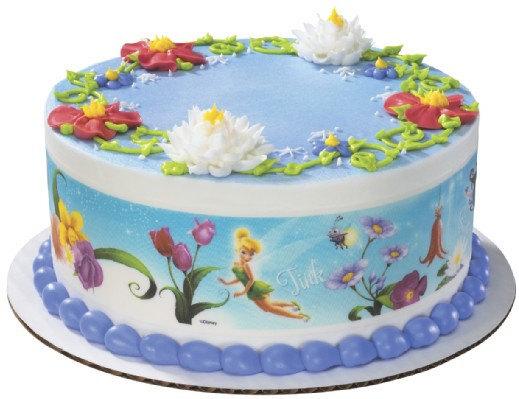 Edible Cake Decorations Fairies : Disney Fairies-Flowers Designer Prints Edible Image Cake ...