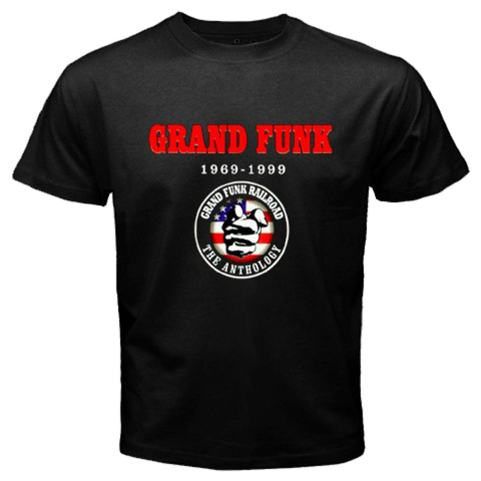HOT VINTAGE GRAND FUNK RAILROAD American Rock Band T-SHIRT