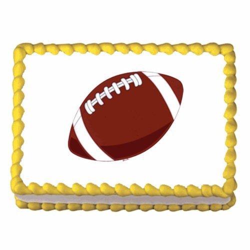 Edible Cake Images Football : Football ~ Edible Image Cake / Cupcake Topper - Candles ...