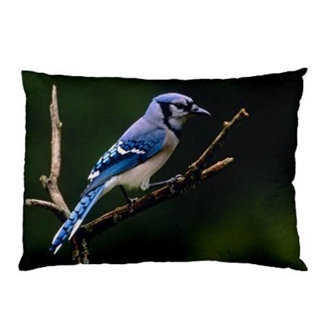 New Pillow Case Home Decor Blue Jay Bird Decorative Bed