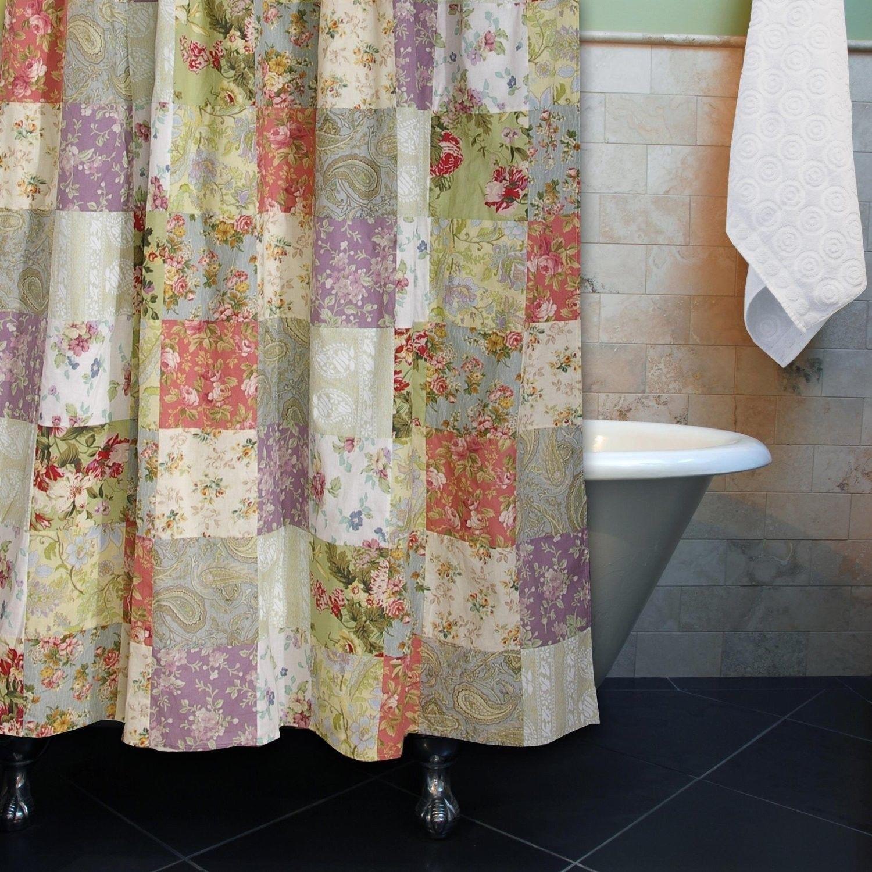shower curtain bathroom bath fabric cotton greenland primitive simplify country house willow tree bath room