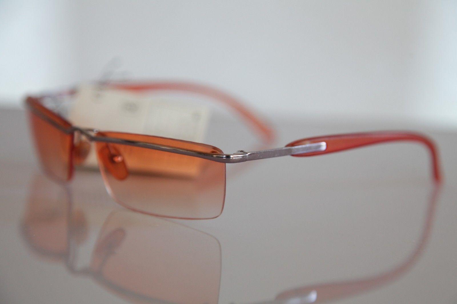 Rimless Glasses Nz : Chrome Rimless Frame, Smoke Orange, Orange lenses - Sunglasses