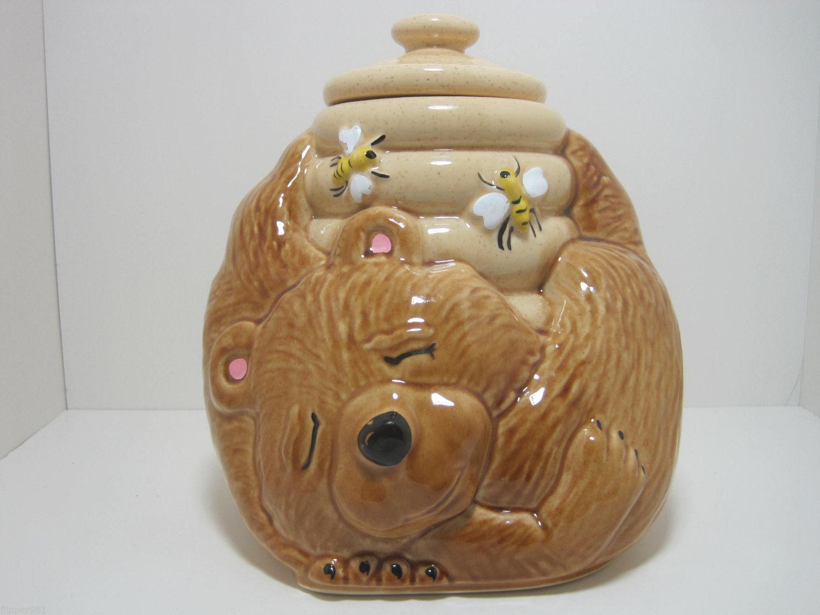 Mccoy sleeping bear beehive cookie jar and 50 similar items - Beehive cookie jar ...