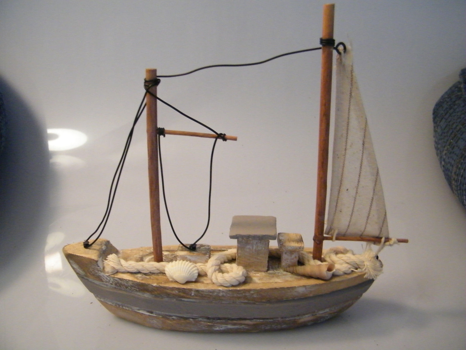 Http Bonanzamarket Co Uk Listings Wooden Sailboat With One Sail Nautical Decor Home Decor 193280271