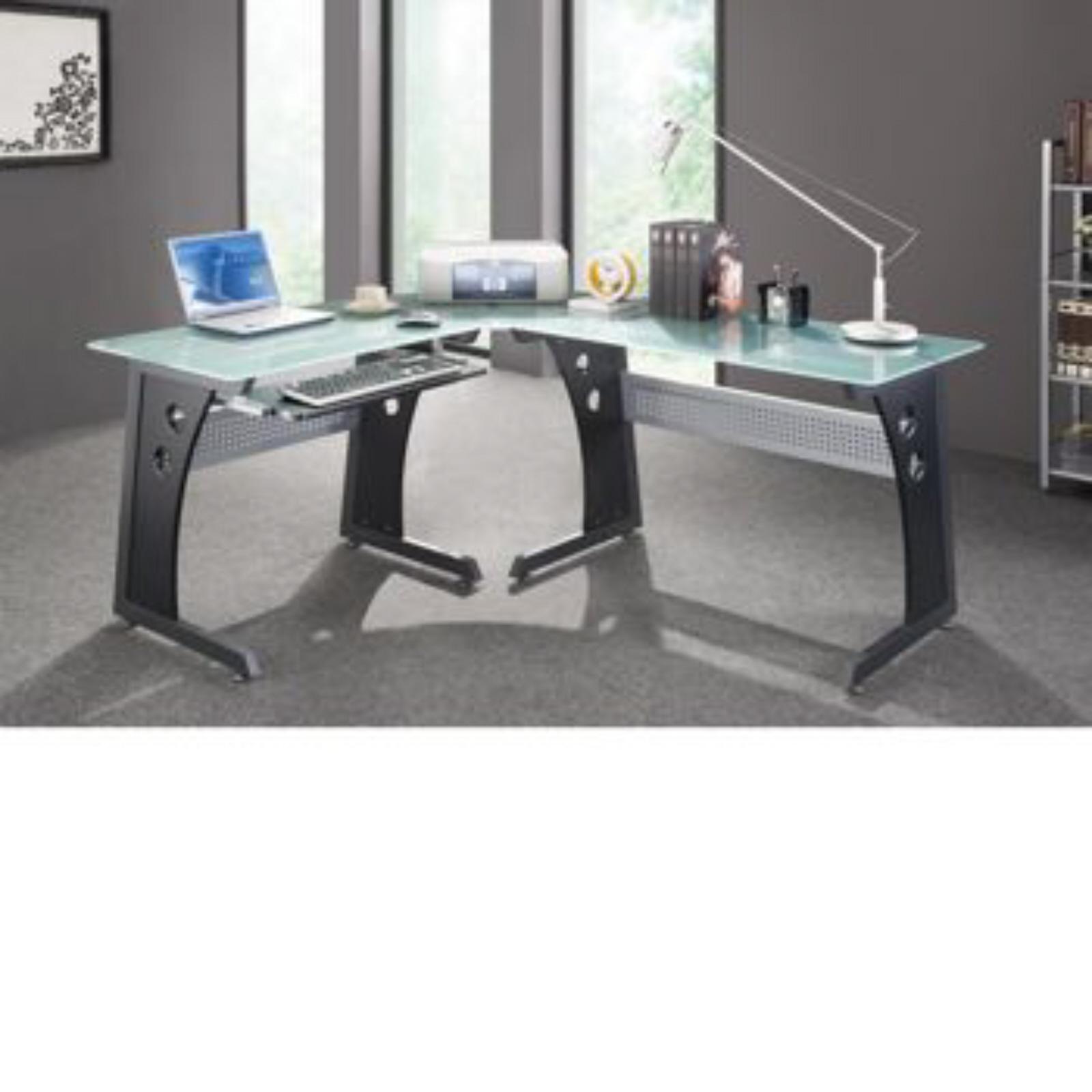 Modern Classroom Furniture Nz : Rainier l shaped workstation computer desk home office