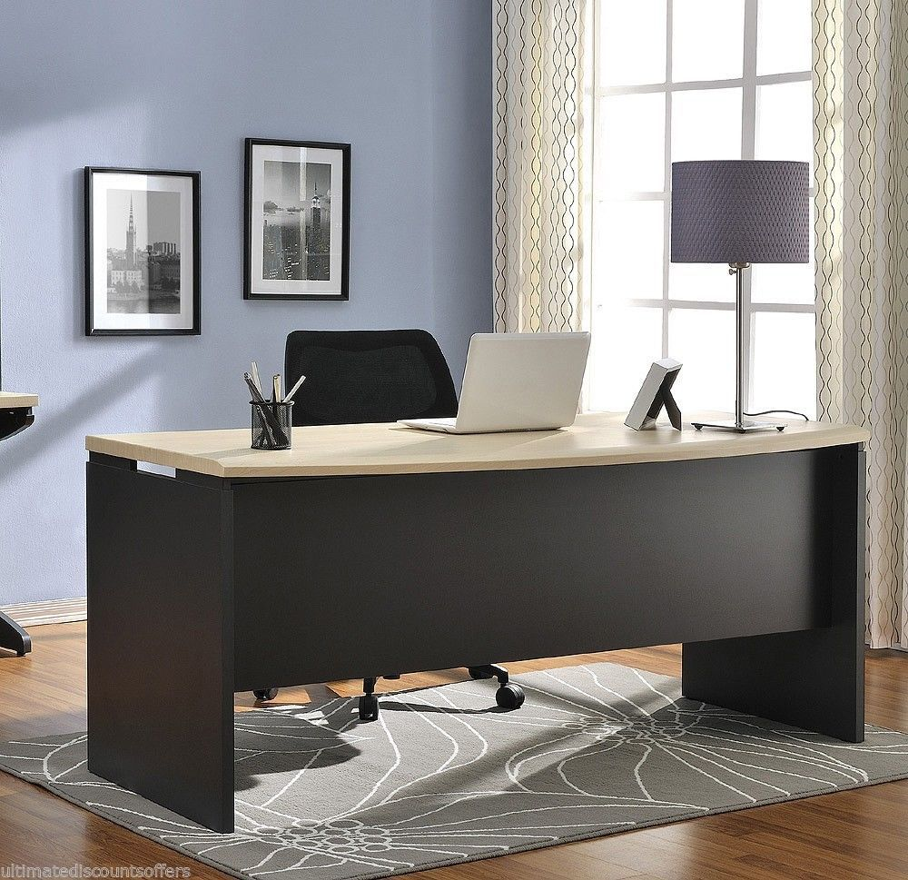 office furniture business modern large wood computer desk home office