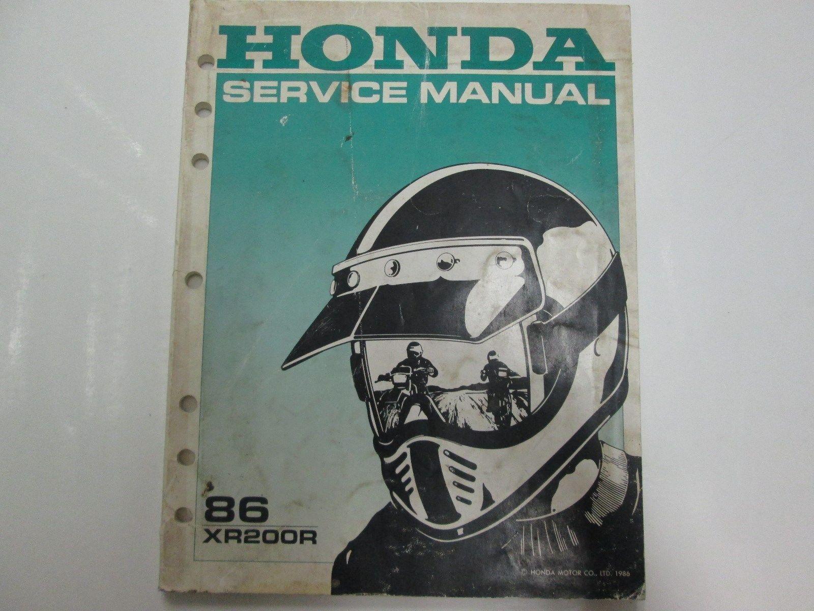 1986 honda xr200r service shop repair manual factory oem for Honda financial services hours