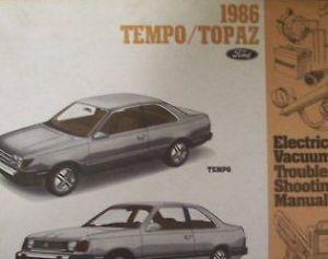 1986 mercury topaz electrical wiring diagram service shop repair manual ewd trucks