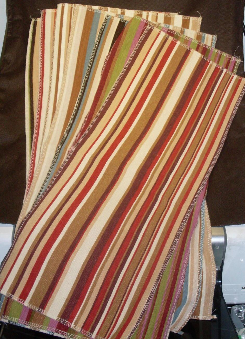 Selection of Striped Fabrics 7 lg pcs Various Colors Villa Nova