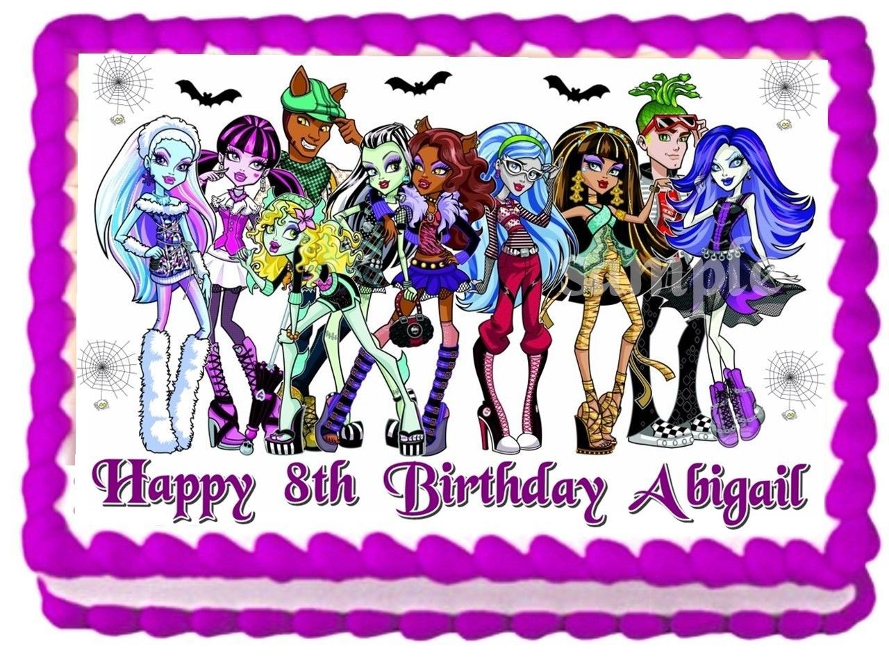 Monster High Cake Decoration Kit : Pin High Edible Image Cake Topper Birthday Decoration ...