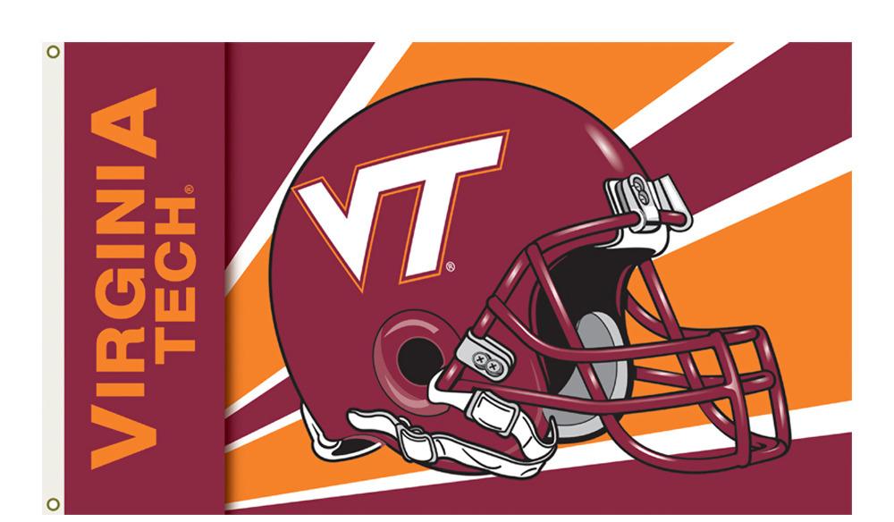 Virginia Tech Hokies Logo 3Ft. X 5 Ft. Banner Flag With ...