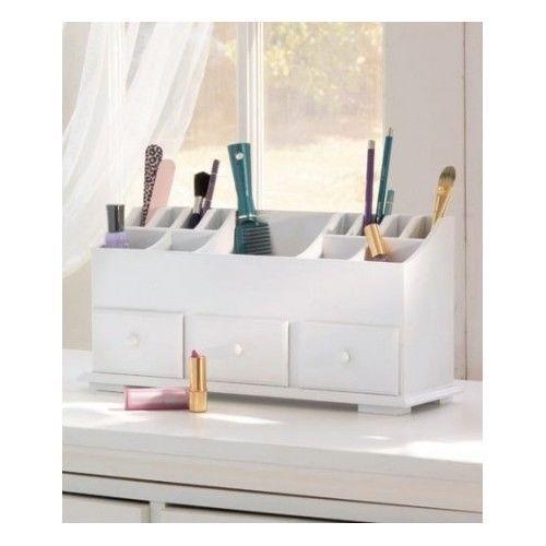 Makeup beauty organizer jewlery vanity cosmetic 3 drawer - Makeup organizer desk ...