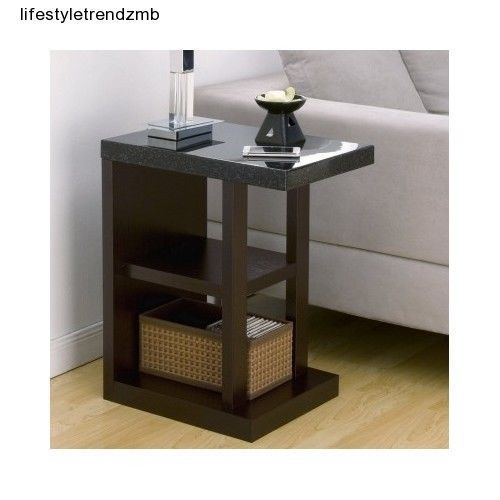 Contemporary Faux Marble End Table Side Living Room Furniture Home D Cor Acce