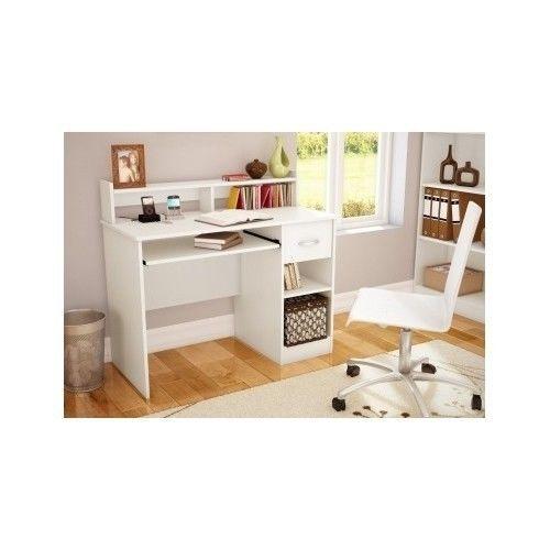 Desk White Home Furniture Computer Laptop Drawer - Desks & Home Office