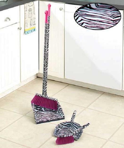 Leopard Print Broom Amp Dustpan Set Designer Broom Amp Dust