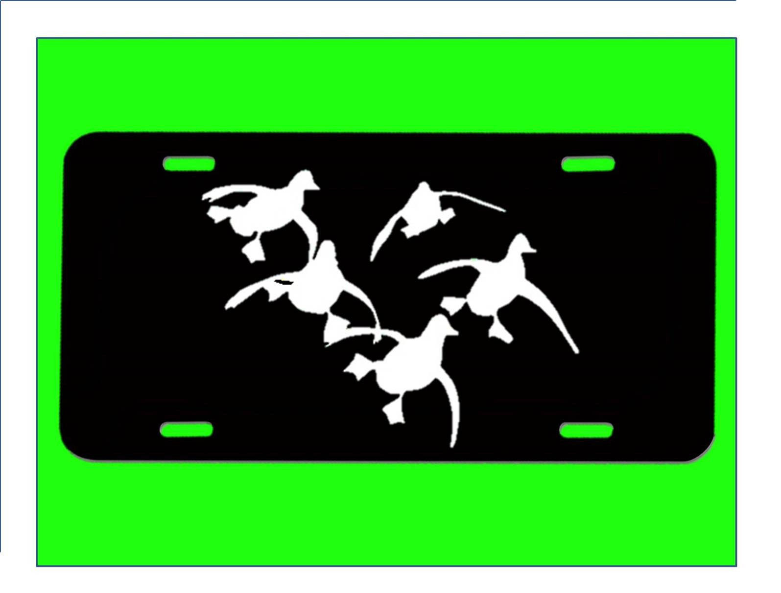 Ducks flying license plate e955 duck hunting blind camo for Nys fishing license prices