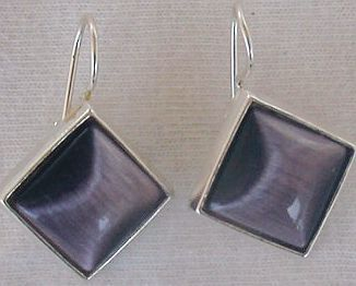 purple square 2 earrings