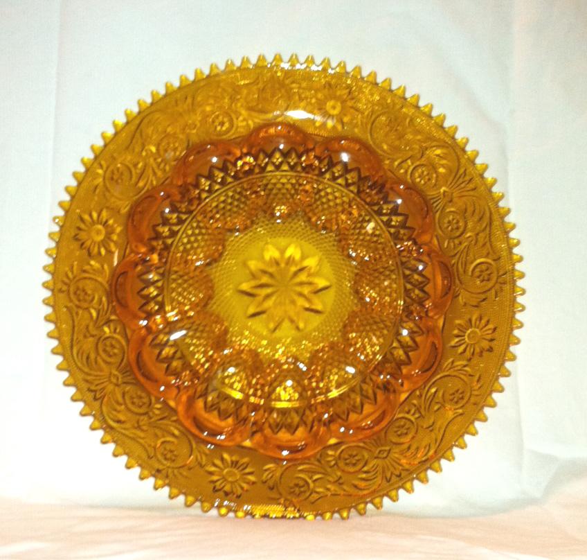 Vintage_tiara_glass_amber_egg_plate