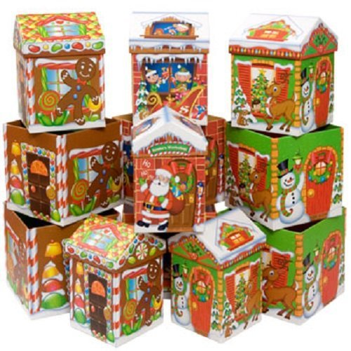 CHRISTMAS GINGERBREAD HOUSE GIFT BOXES SET (nested 4 pieces)(styles ...