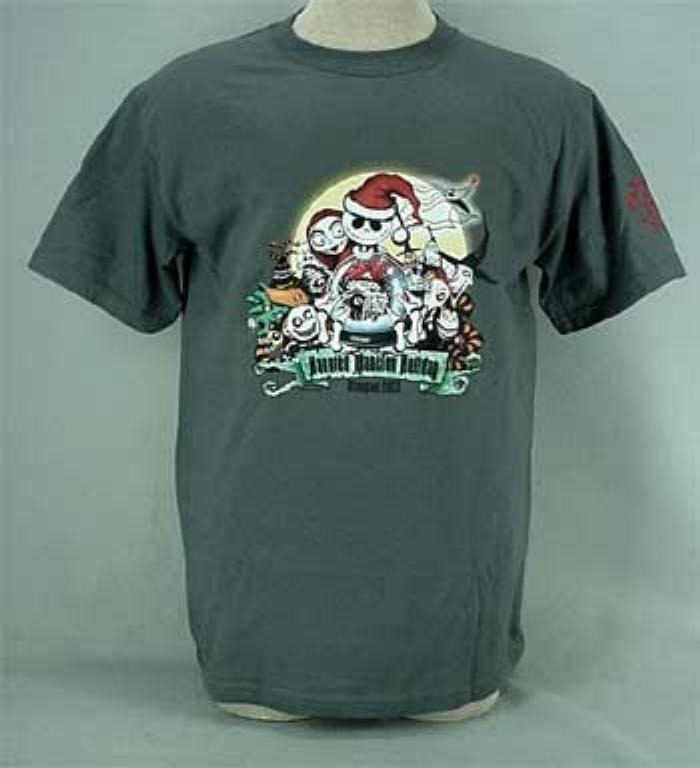 Haunted mansion holiday disneyland t shirt 2003 adult for Adult medium t shirt