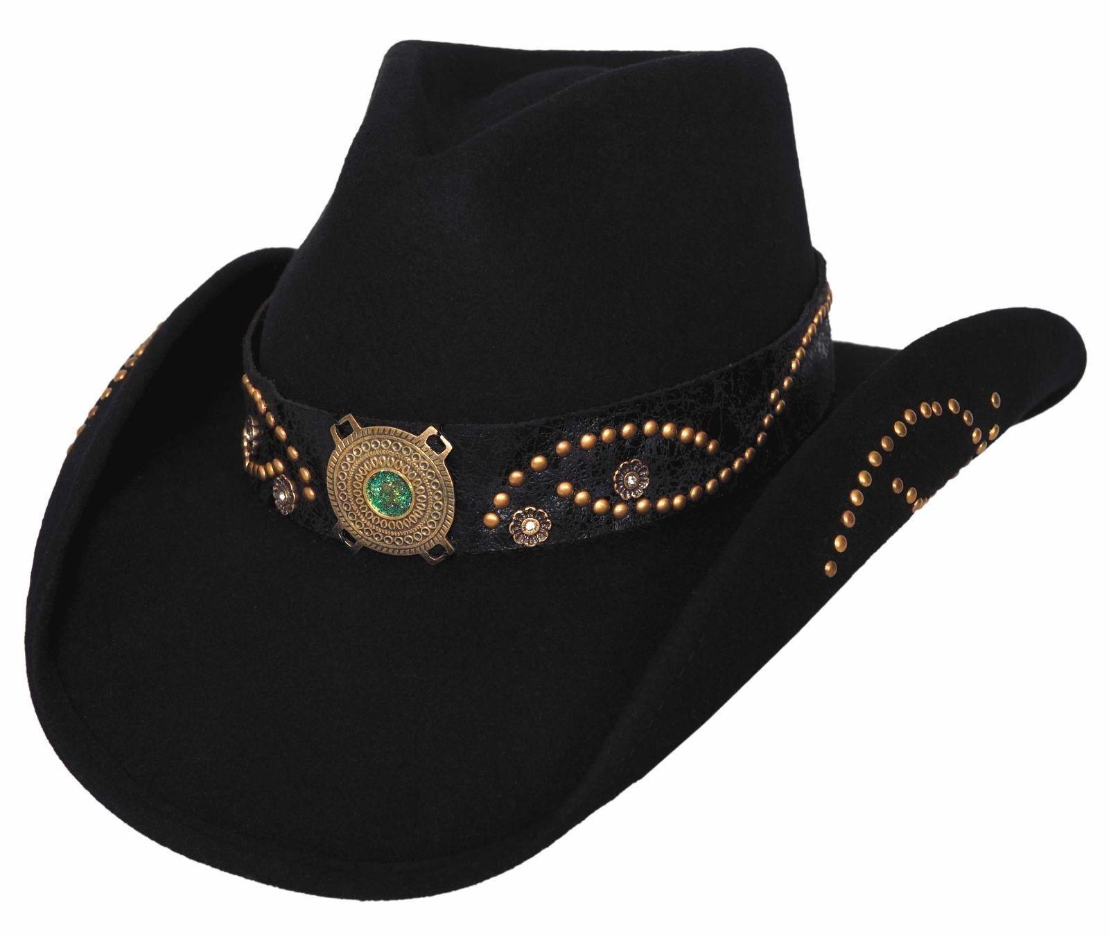 bullhide s wool felt cowboy hat black or