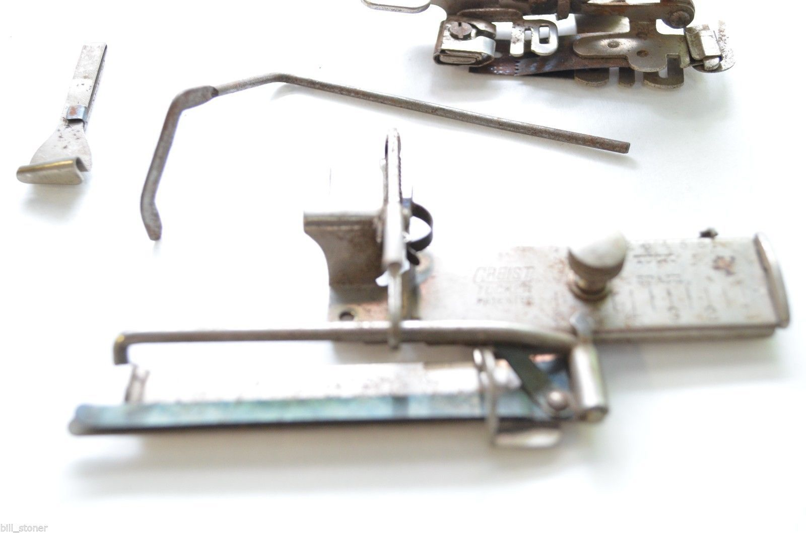 antique white sewing machine parts