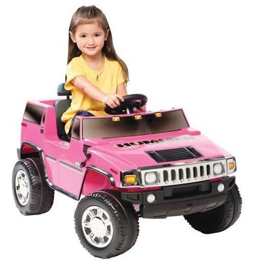 Ride On Toys Age 6 : New girls pink jeep car ride on electric hummer truck toy