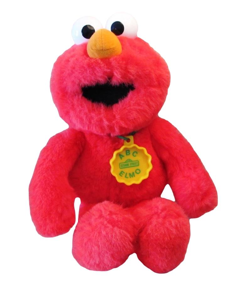 Abc elmo 19 plush singing toy sesame street 1993 hasbro for Elmo abc