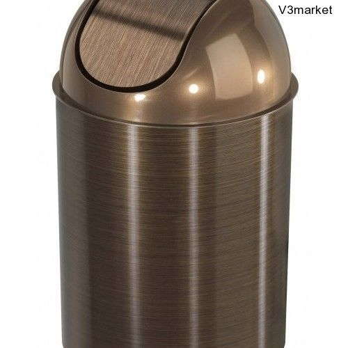 can swing hands free lid bathroom bin wastebasket garbage trash cans