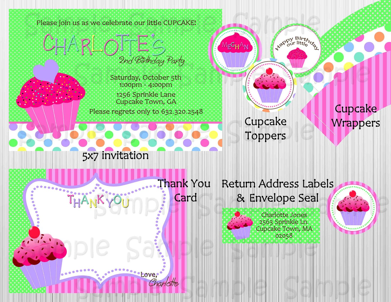 Cupcake themed birthday party package decorations for 21st birthday decoration packages