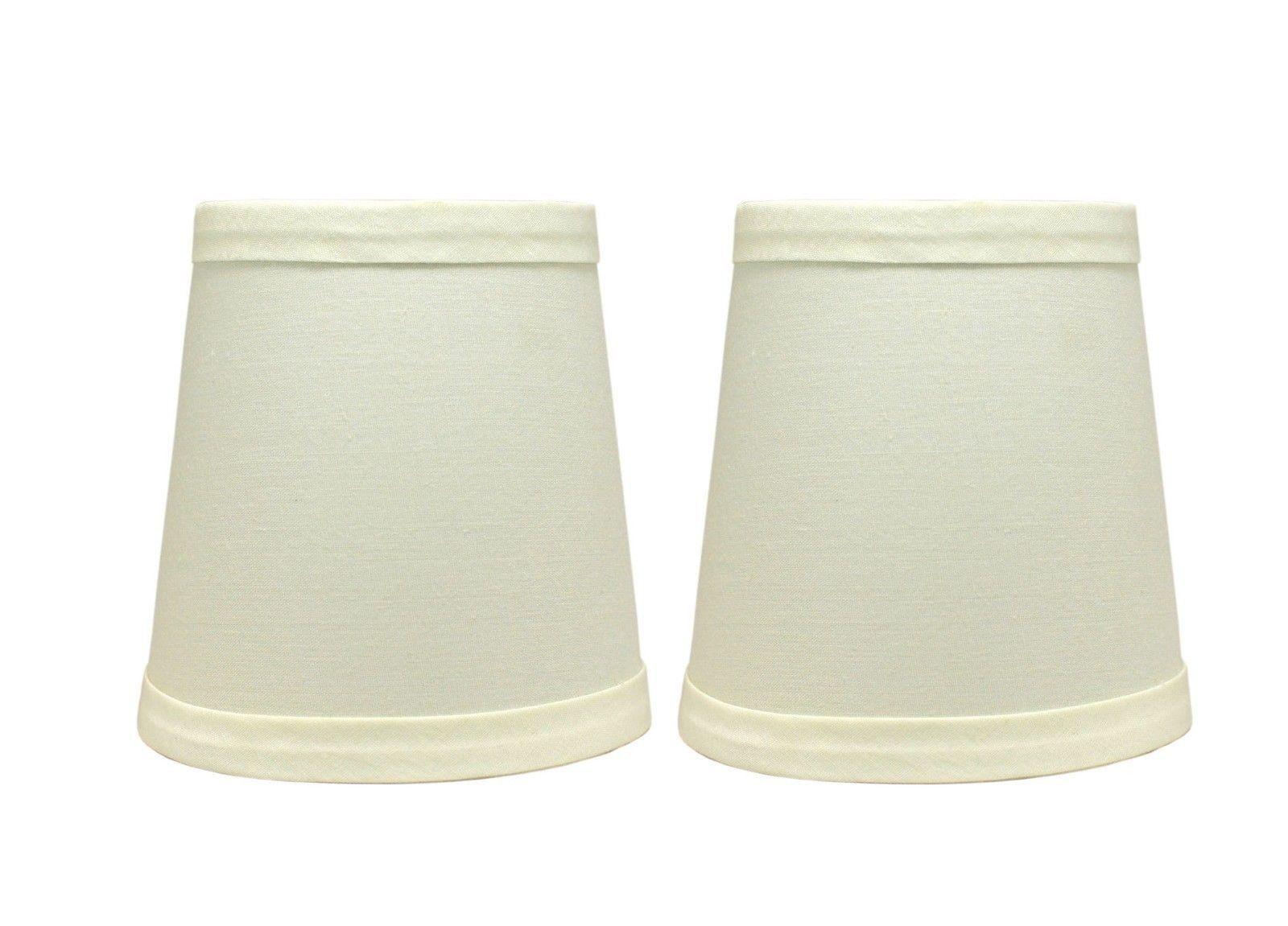cotton chandelier mini lamp shades clip on hardback eggshell 3 x4 x. Black Bedroom Furniture Sets. Home Design Ideas