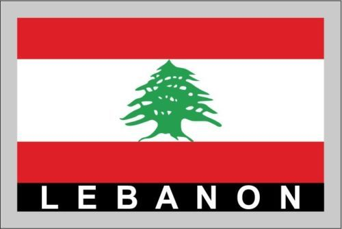 Lebanon Temporary Body Face Country Flag Tattoo Sticker ...
